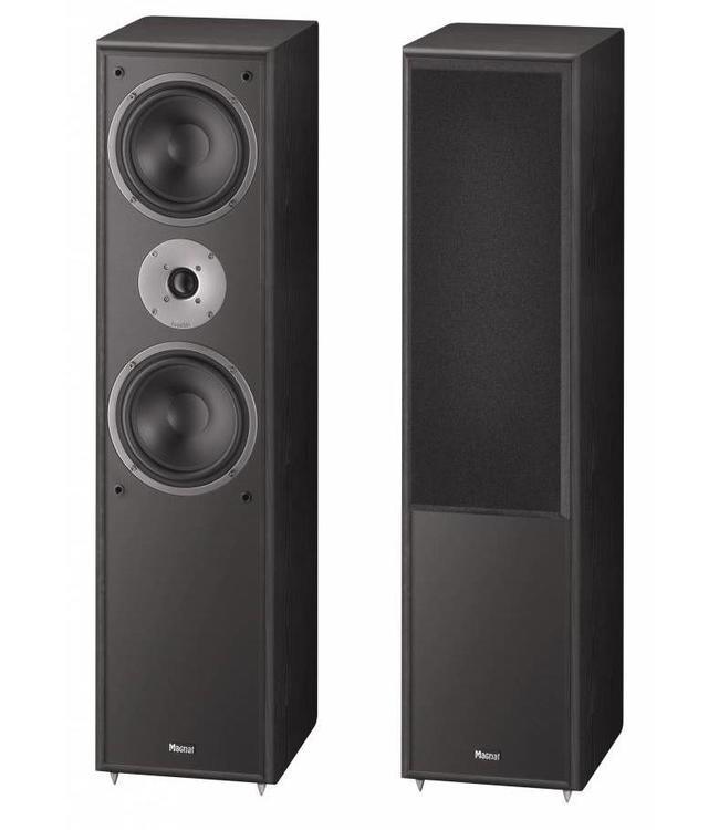 Magnat Monitor Supreme 802 zuil luidsprekers met  een volle bas en natuurlijk hoog kleur zwart prijs per set