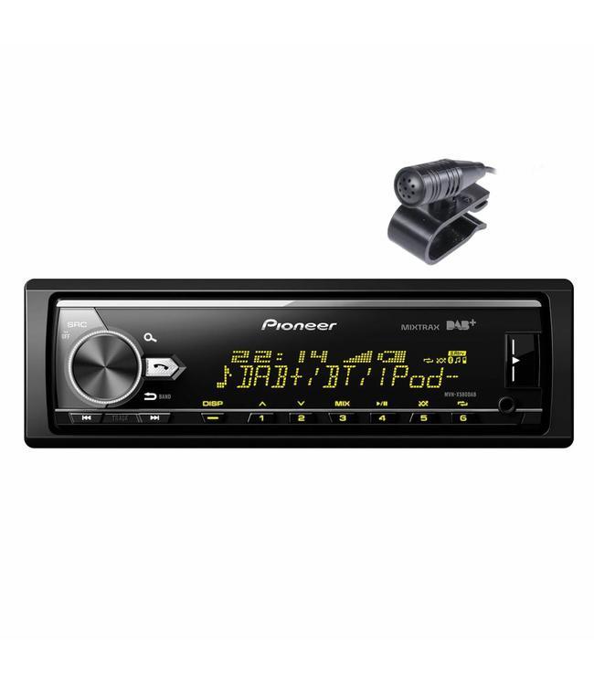 Pioneer MVH-X580DAB bluetooth autoradio met DAB+ digitale radio, USB, AUX zonder cd speler met spotify