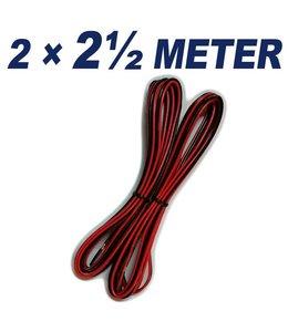 KABEL 2 ½ Meter speaker Kabel (2x)