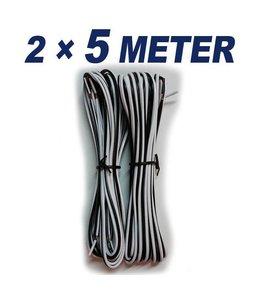 KABEL 5 Meter speaker kabel (2x)