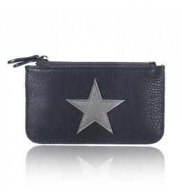 Mini portemonnee star Zwart