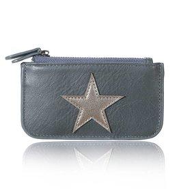 Mini portemonnee star - small Grijs
