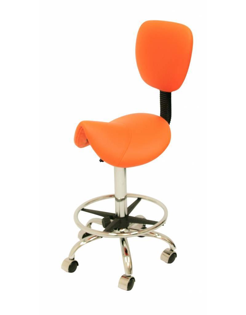 Zadelkruk Rugleuning Standaard Oranje met Voetring