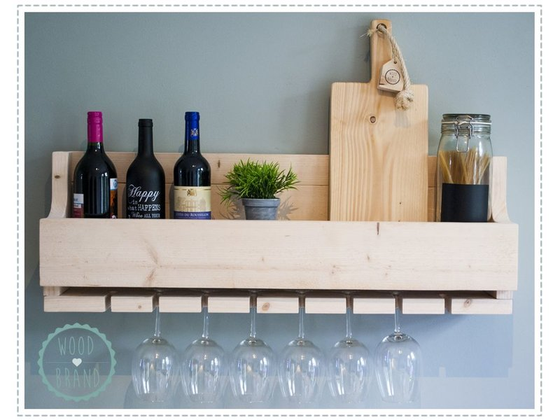 Wijnrek 'eight glasses'