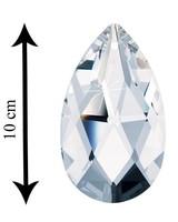 Swarovski® Crystals Anhaenger Tropfen geschliffen mit Loch 100 mm Clear Crystal - XXL Kristall
