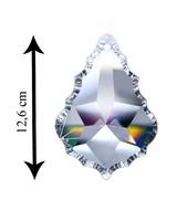 Asfour Kristall Pendel Baroque geschliffen mit Loch 126 mm Clear Crystal - XXL Kristall