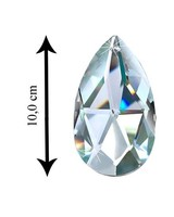 Asfour Kristall Anhaenger Tropfen geschliffen mit Loch 100 mm Clear Crystal - XXL Kristall