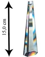 Asfour Kristall Prisma geschliffen mit Loch 150 mm Clear Crystal - XXL Kristall