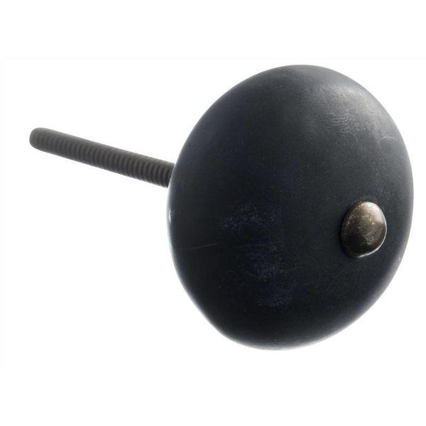 Kastknop Porselein Zwart