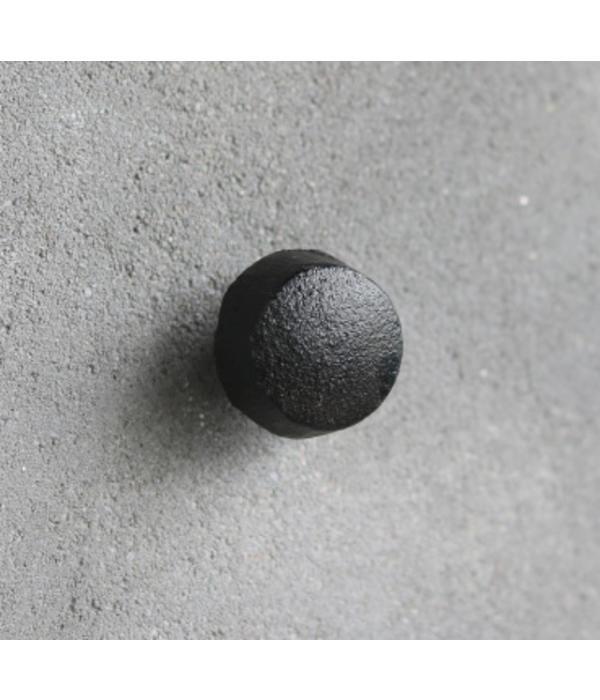 Kastknop Zwart Metaal S