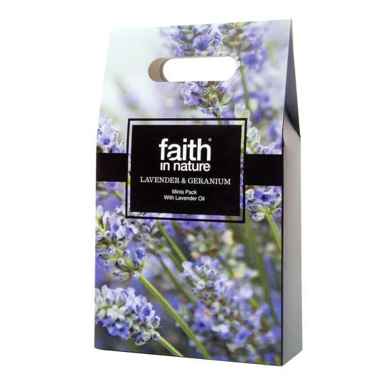 Faith in Nature Lavender & Geranium Mini's Gift Pack