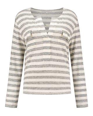 SYLVER Linen Stripe Shirt Pockets