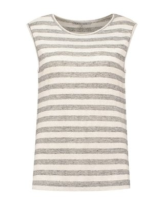 SYLVER Linen Stripe Top Basic