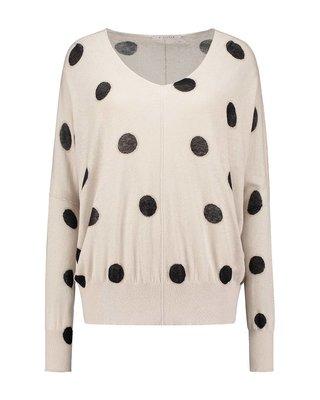 SYLVER Dot Knit V-neck Pullover