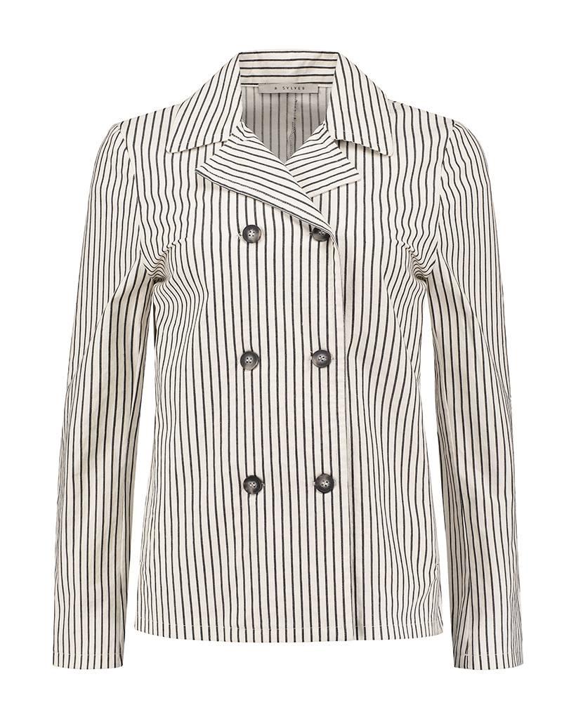 SYLVER Cotton Stripe Blazer
