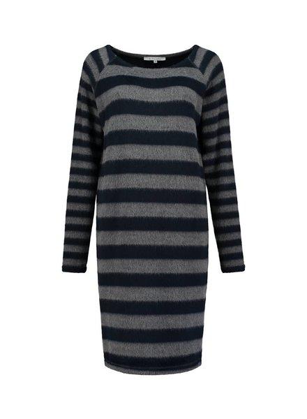 SYLVER Fur Jersey Stripe Dress
