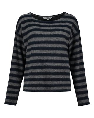 SYLVER Fur Jersey Stripe Shirt