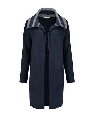 SYLVER Fur Jersey Cardigan