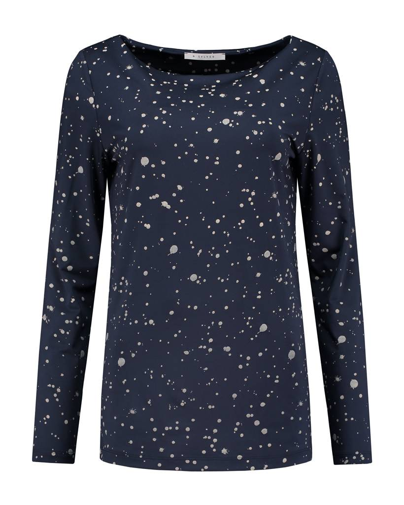 SYLVER Splatter Print Shirt