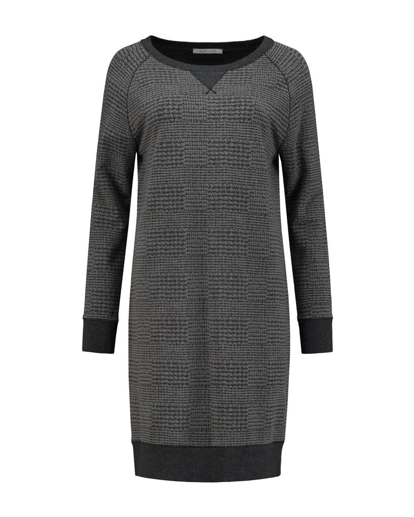 SYLVER Shadow check Sweat Dress