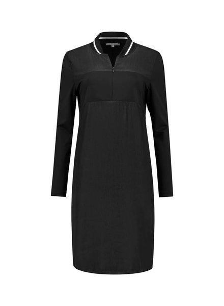 SYLVER Poly Silk Zipper Dress