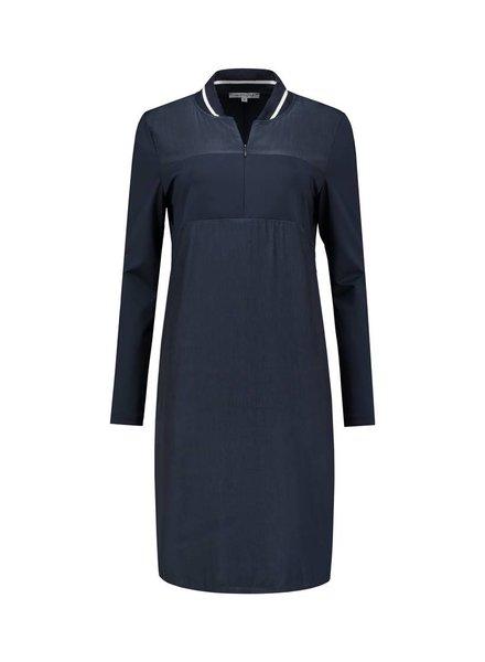 SYLVER Poly Zipper Silk Dress