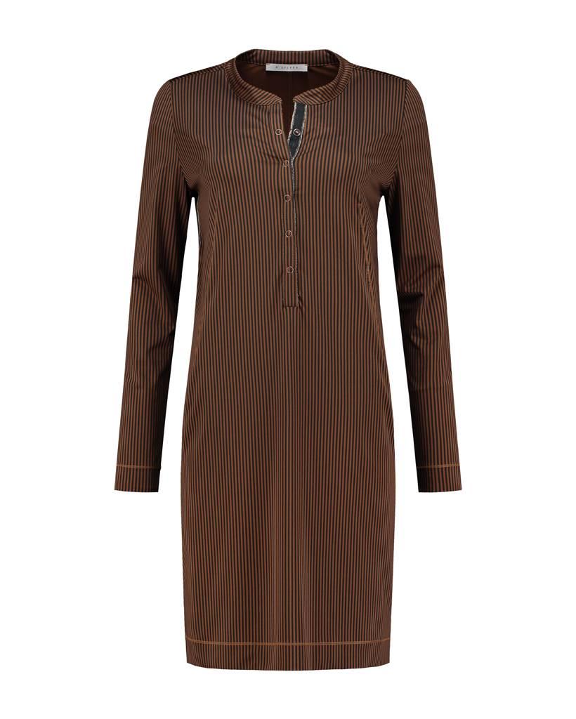 SYLVER Silky Stripe Dress