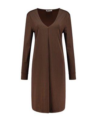 SYLVER Silky Stripe Blouse Dress
