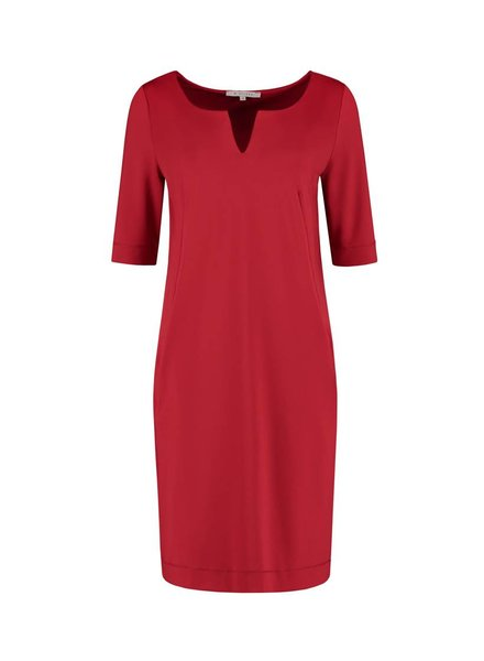 SYLVER Silky Jersey Dress Round Neck