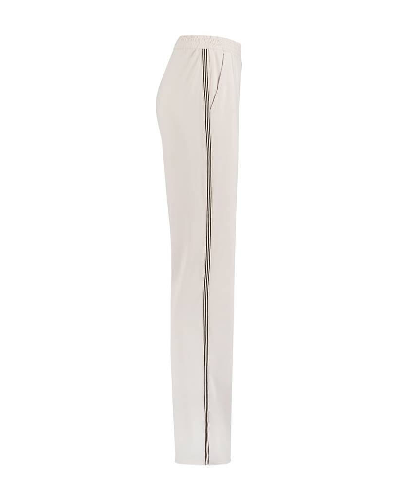 SYLVER Silky Jersey Trousers Striped Tape