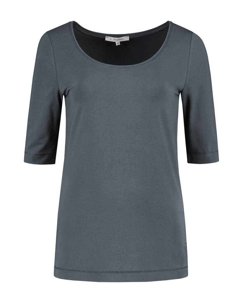 SYLVER Cotton Elasthane Shirt Roundneck