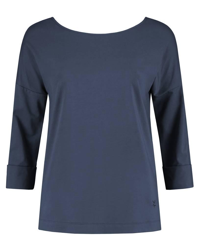SYLVER Cotton Elasthane Shirt V-back