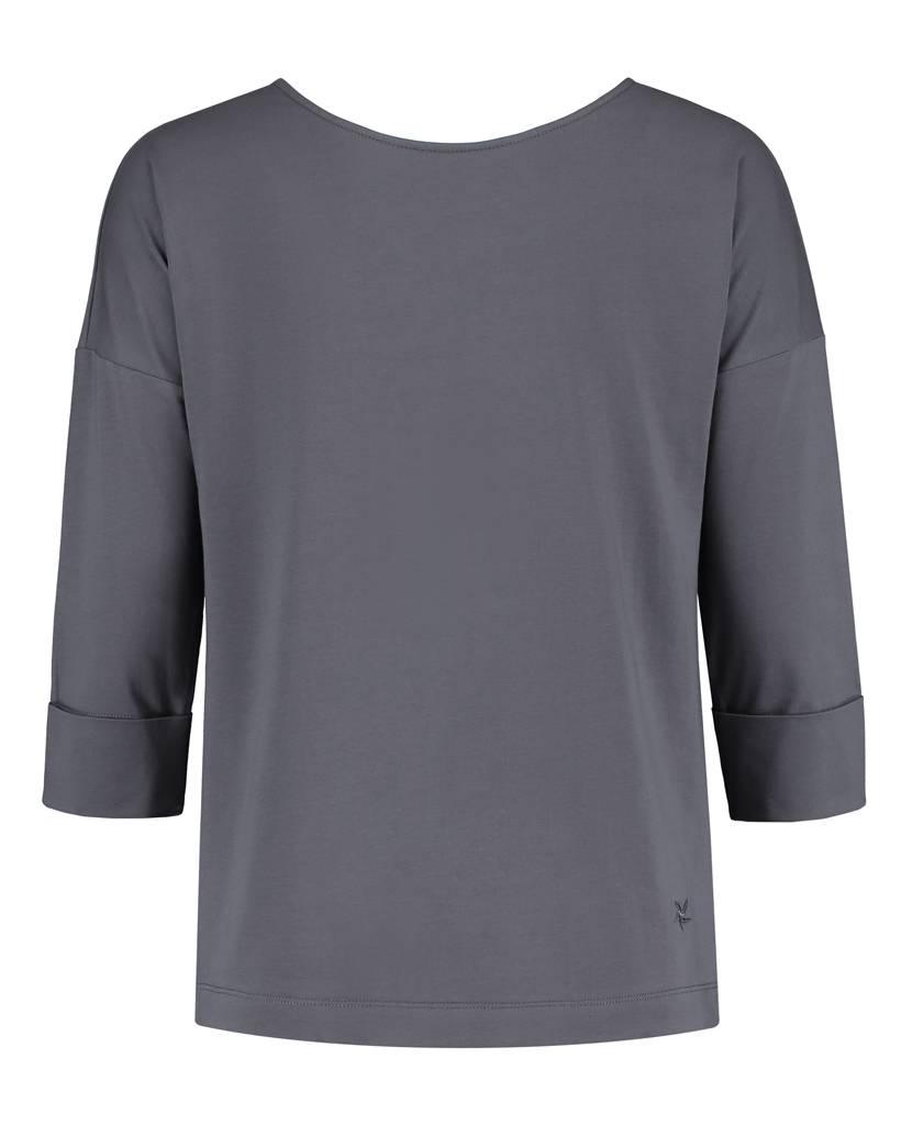 SYLVER Cotton Lycra Shirt V-back