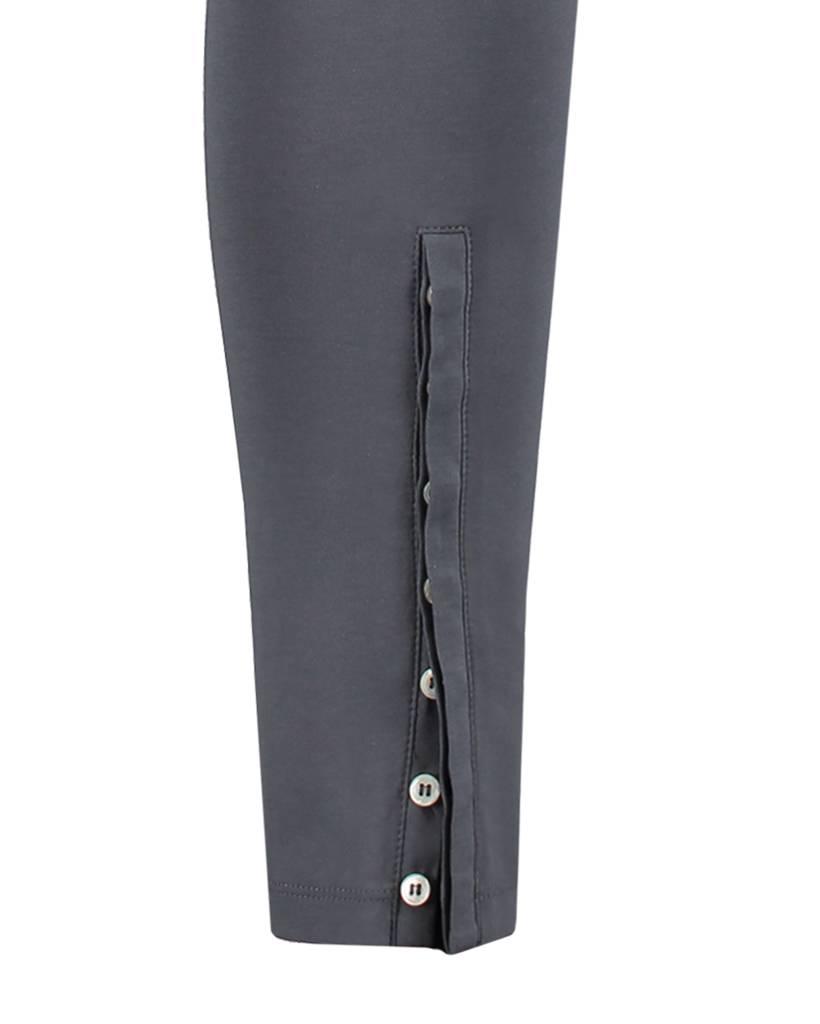 SYLVER Cotton Lycra Leggings Buttons