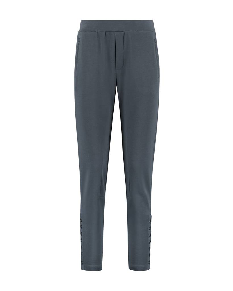 SYLVER Sweat Cotton / Linen Trousers Buttons