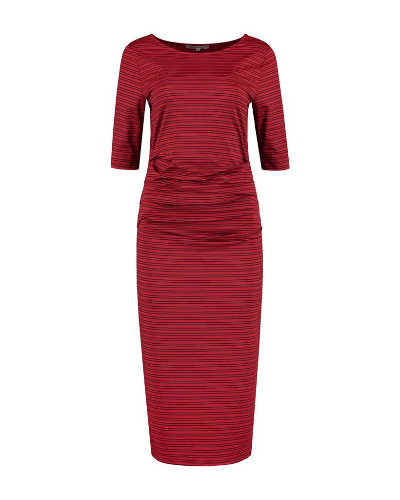 SYLVER Silky Double Stripe Dress