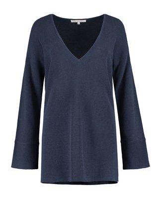 SYLVER Combed Cotton Shirt V-neck