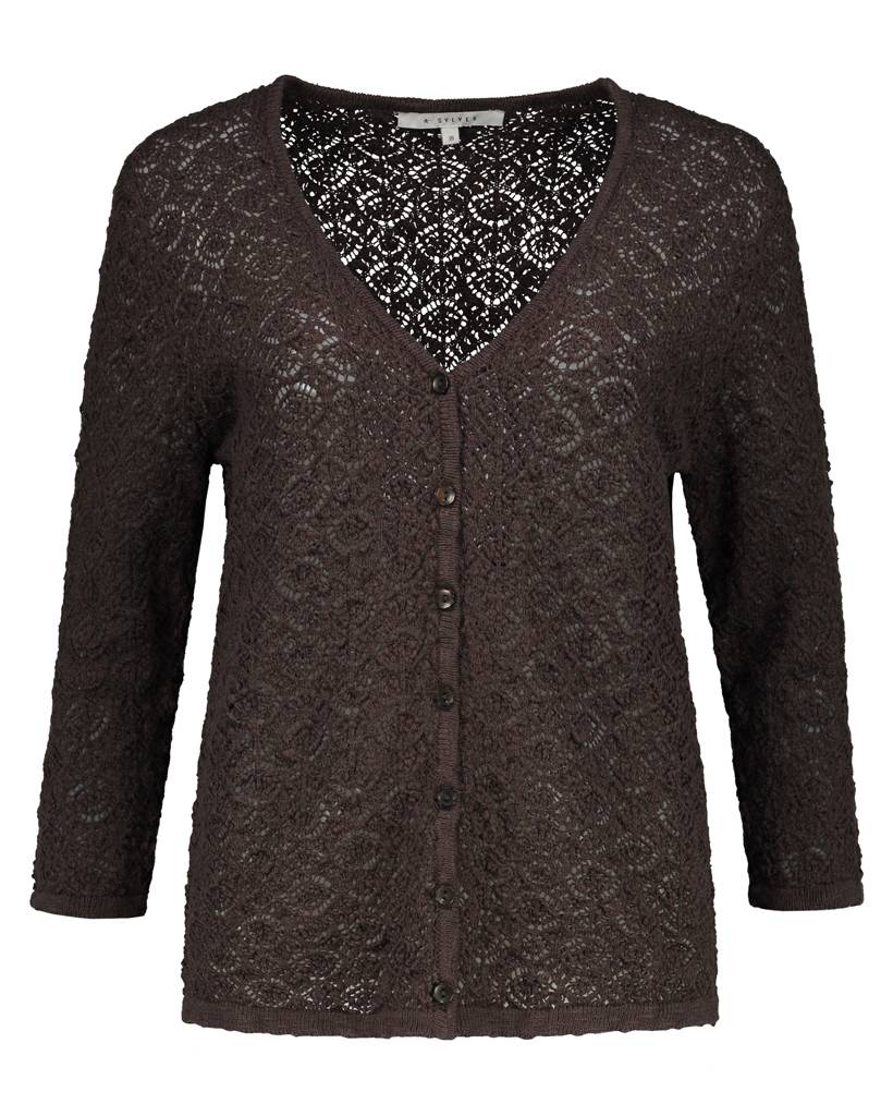 SYLVER Lace Knit Cardigan