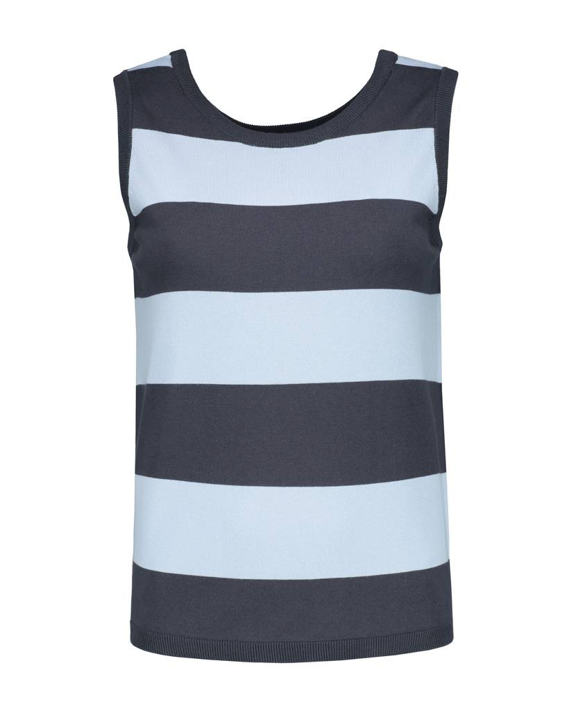 SYLVER Compact Stripe Top Sleeveless