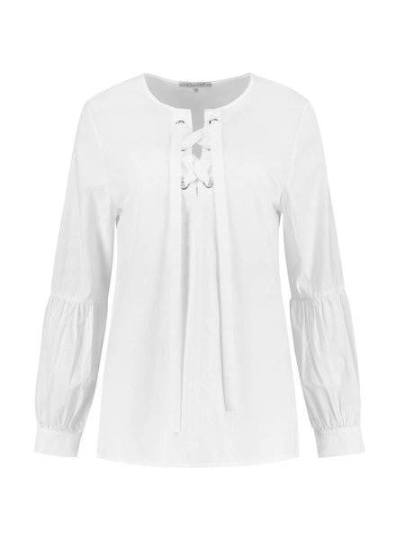 SYLVER Poplin Blouse Puffed Sleeves