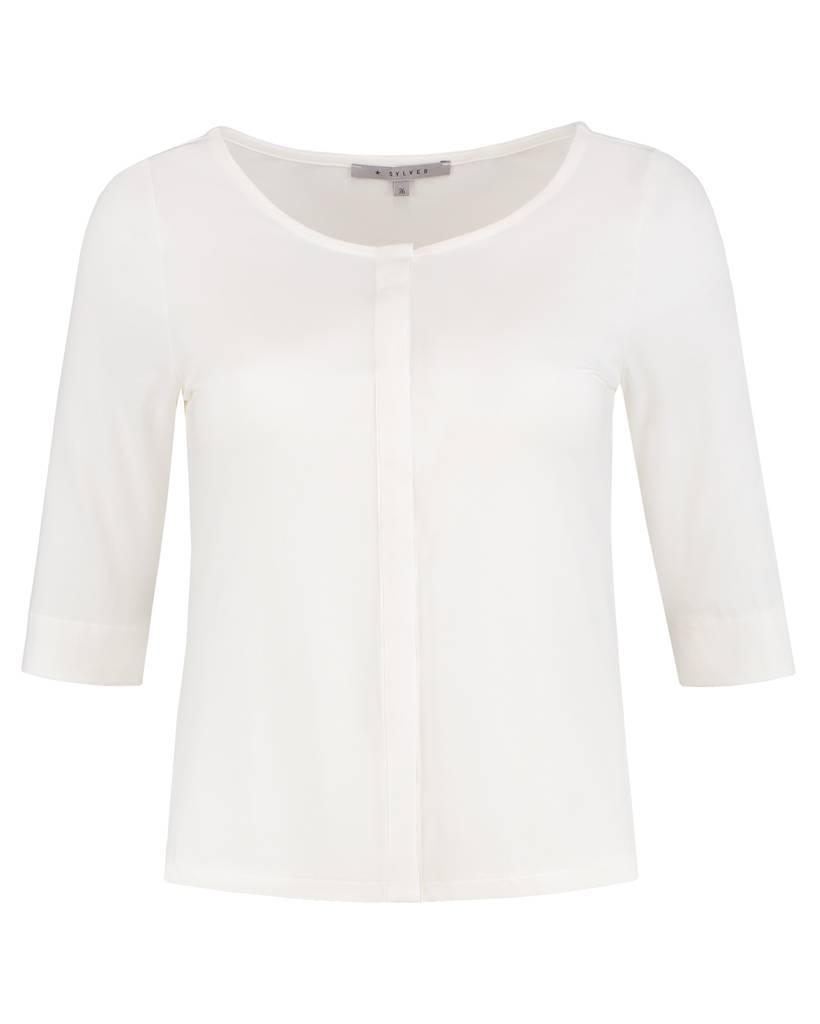 SYLVER Cotton Elasthane Blouse Buttons