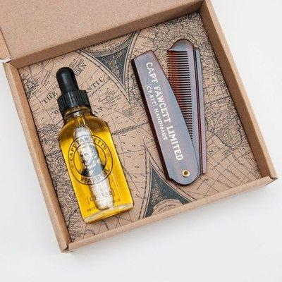 Captain Fawcett Beard Oil / Comb Gift Set