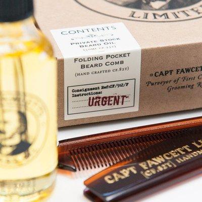 Captain Fawcett Giftset Baardolie/kam