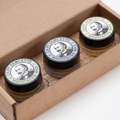 Captain Fawcett Moustache Wax Gift Set