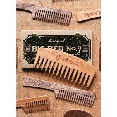 Big Red Beard Combs Beard Comb No.9 Walnut