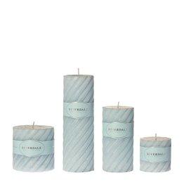 Riverdale Candle Swirl light blue 7.5x7.5cm