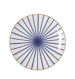 Riverdale Bord Lines blue 22cm