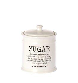 Riverdale Pot Sugar white 12cm