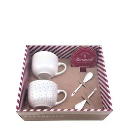 Riverdale Giftset Coffee white/grey 30cm