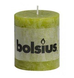 Bolsius Bolsius stompkaars rustiek 80x70mm mosgroen